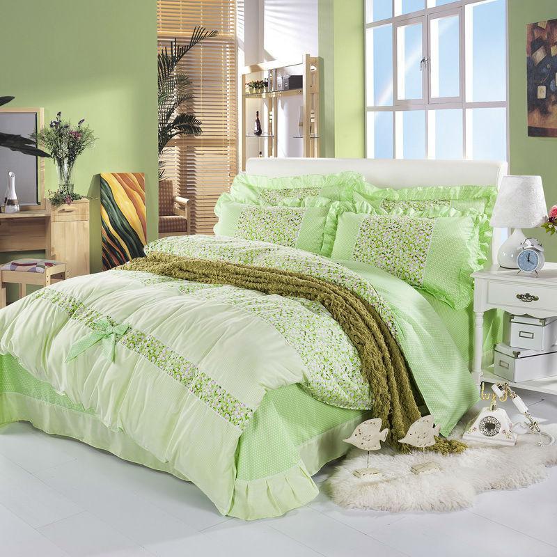 flower gift bedclothes 4pcs duvet cover set c