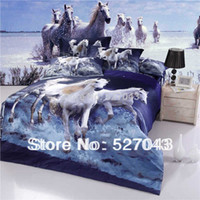 Cheap 2014 rushed new horse 3d oil print comforter bedding set or sets duvet cover bedspread quilt patterns full queen king size,hky02