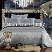 Cheap silver gray color bedding set luxury bedclothes king queen size bedcover comforter quilt duvet cover bedspread silk cotton sets