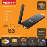 Compra Androide tv stick dlna-Mayoristas-MeLE Elenco S3 Smart TV Stick WiFi HDMI Dongle AirPlay EZCast Miracast Espejo DLNA Wireless Display Player para Android iOS Windows