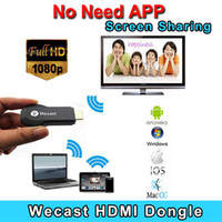 Wholesale EZCast Miracast Dongle Wifi Streaming to TV Wireless Display as Google Chromecast hdmi p HD Media Airplay Streamer Tv stick