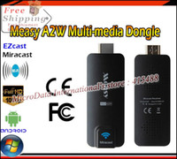 Wholesale Newest Measy A2W Miracast TVstick Chromecast DLAN Airplay EZCast HDMI WIFI DongleFor Android IOS Windows with