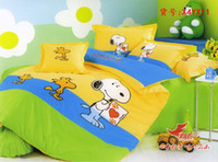 Wholesale New Beautiful PC Cotton Comforter Duvet Doona Cover Sets FULL QUEEN KING SIZE bedding set cartoon colorful snoopy