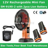 Wholesale 12V Power Tools V Rechargeable Mini Fan SM with Lion Battery SierCordless Portable Fan Electric Air Fan Toy fan