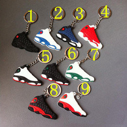 Wholesale jordans jordan retro shoes keychains keyring key holder souvenirs porta chaves key rings chaveiro llaveros