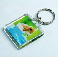 acrylic photo key chain - Blank Acrylic Rectangle Keychains Insert Photo Keyrings Key ring chain quot x quot cm cm