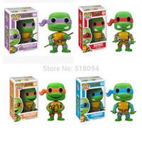 Wholesale FUNKO POP Teenage Mutant Ninja Turtles Bobble Head Wacky Wobbler PVC Action Figure Collection Toy FKFG102