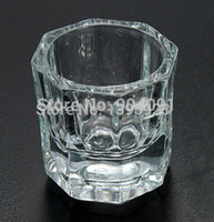 Cheap Wholesale-1 Pcs Crystal Glass Dish Nail Art Tools Acrylic Nail Art Equipment Mini Bowl Cups