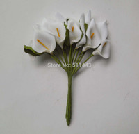 Wholesale Real Touch Mini Artificial EVA Foam Calla Lily Flowers For Wedding Decoration Scrapbooking