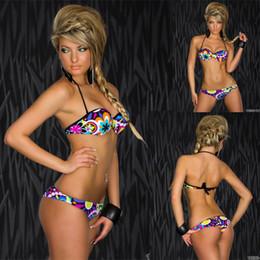 Wholesale-Sexy Printing Bikinis Set Swimwear Women Bikinis High Quality Push Up Bikinis S,M,L W846112