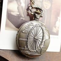 london necklace - 2015 new arrival hot sale russia bronze London Eye pocket watch necklace watch