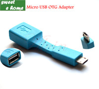 mouse card reader - Blue Cable Micro USB OTG Adapter Connect Card Reader Flash Drive Keyboad Mouse for Smart Phone