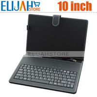 Wholesale quot Leather Case with Standard USB Interface Keyboard for inch Tablet PC Such as Cube u30gt zenithink c92 sanei n10