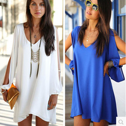 Wholesale-2015 Women Dress Tropical Plus Size Women Clothing Casual Summer Dress Loose Sexy Vestidos A-line Mini Shirt Dress Y9637