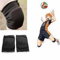 adjustable support legs - Haikyuu Karasuno High School Volleyball Kneepads Kneecaps Adjustable Sports Leg Knee Support Brace Wrap Protector Pads Cap