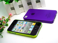 ans plastics - HOT Transparent Cover Cases For iPhone s Case mm Ultra Thin Shell For Mobile iPhone4 Protection LSN ALPPSN SP ANS
