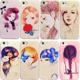 Wholesale Aesthetic Design Elegant Girl Painted Shell For Apple iphone s Case For iPhone5 iPhone5S Phone Protection Shell