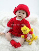 Cheap 22 inches Real Like Silicone Reborn Baby Dolls Classic Baby Dolls Toys For Girls