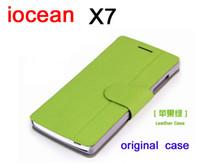 al por mayor iocean x7-el envío libre al por mayor de cuero-x7 caso de la cubierta del caso del tirón x7 hd iocean originales x7s caso en la acción