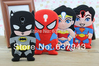 batman telephone - For samsung galaxy s4 mini soft rubber batman superman spider man design telephone cases covers for samsung galaxy S4 mini i9190