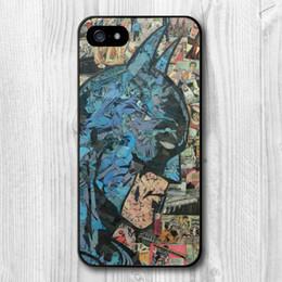 Wholesale Retro Vintage Batman Comic Book Protective Cover Case For iPhone S S C Plus TC1517