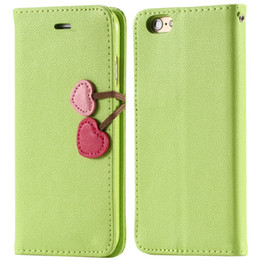 Wholesale-Top Quality Lovable Heart Stand Case for  5 5S 5G PU Leather Wallet Carring Cover