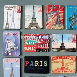 Wholesale France Paris Eiffel Tower scenery fridge magnet set landscape Travel Vocation refrigerator magnetic sticker souvenir gift