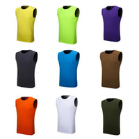 baseball tank - mens quality running summer vest baseball Outdoor gym tank top Coolmax Sport baseball Tees sleeveless shirt pure