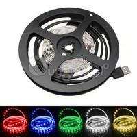 Wholesale Big Promotion Colorful cm cm cm SMD LED Waterproof Flexible Strip Light TV Background Lighting V USB Cable