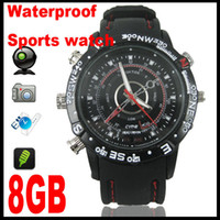 Wholesale Real GB waterproof watch Camera MINI DV DVR sprots camera