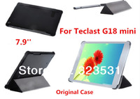 Cheap Wholesale-Free Shipping! Original Ultra Slim Teclast G18 mini 7.9'' Tablet PC Folding Stand PU Leather Case. Case for Teclast G18