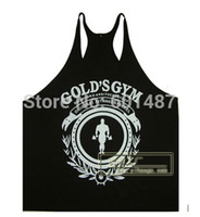 Wholesale New gym vest bodybuilding clothing and fitness men undershirt tank tops golds gym brand high quality cotton undershirt