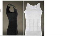 Wholesale-Men Slim Lift Men Slimming Vest Shirt Body Shaper Fatty Mens Vest Free Shipping fitness vest corset belly in waist abdomen