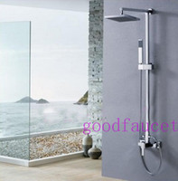 """Cheap Free Shipping ! Contemporary Modern Square Brass 8"""" Bathroom Rain Shower Faucet Set With Handheld Shower Mixer Tap"""