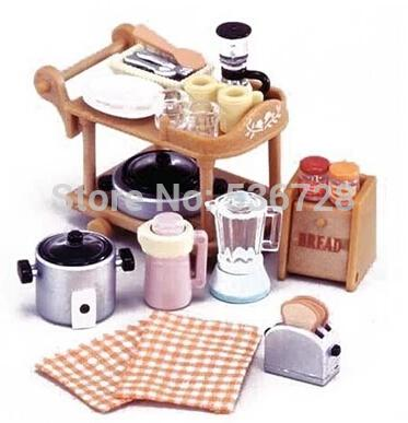 wholesale bonbon box sylvanian families furniture accessories cooking kitchen ware collection cute mini bonbon furniture