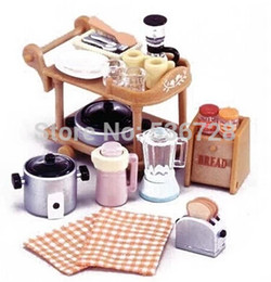 Wholesale Bonbon Box Sylvanian Families furniture accessories cooking kitchen ware collection cute mini