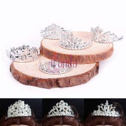 Wholesale-10pcs  set Girls Crystal Plastic Sliver Crown Headband Headwear Accessories for  Doll Toys #68458