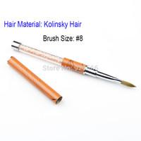 acrylic level - SaintRomy Nail Art Beauty Polish Gel Brushes New Hot High Level Size Metal Acrylic Handle Kolinsky Nail Brush