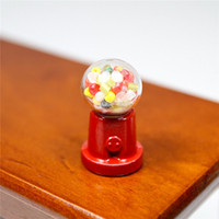 Wholesale Glass Candy Gum Gumball Vending Machine Dollhouse Miniature For Re ment Orcara Miniature Toys Dolls Accessories