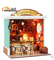doll house - Doll House Creative DIY manual wooden assembled model Doll House Toy captain birthday gift to send the boy bar