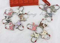 purse hook - LOTmix color as you like free shipment L1545glitter shinning love cat purse handbag hook bag hanger holder hook bag hook