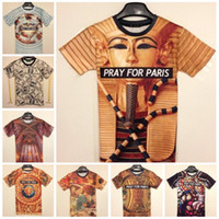 Wholesale Fashion Animal Print D T shirts D Print Pray For Paris Print T shirt Man
