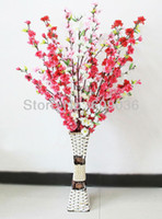 artificial tree - quot Artificial Blossom Cherry Plum Spring Peach Spray Branch Silk Flower Tree Beautiful Home Decoration