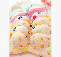 best soft cup bra - Hot Selling Little Girl Fashion Lovely Floral Bra Soft Seamless Ice cream Underwear Colors Cup ABC Best Quality