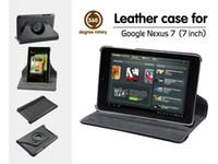 Gros-cuir PU 360 degrés couvercle du boîtier de rotation pour ASUS Google Nexus 7 1st Gen
