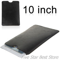 Wholesale inch Leather Sleeve Case for Tablets such like cube U30GT sanei n10 zenithink c91 all flytouch series etc