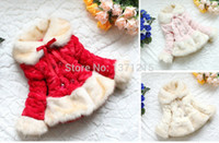Wholesale New Retail Girls Coat Fur Collar Outerwear Kids Coral Fleece Jacket Girls Faux Fur Coats Outerwear Childrens Coat
