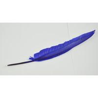 al por mayor bolígrafo de la pluma-Al por mayor-Blue Feather Quill Negro retro tinta del bolígrafo del punto de bola