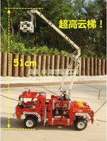 Cheap 33231 fire engine toy child set blocks diy kids boy and girl toys children designer unique fire fighting truck toy