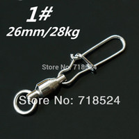 Wholesale 50PCS Fishing Snap Rolling Swivel mm kg Size Spoon Lure Bait Connector Pesca
